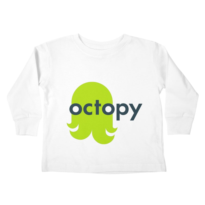 Green Oct-ulus Kids Toddler Longsleeve T-Shirt by octopy