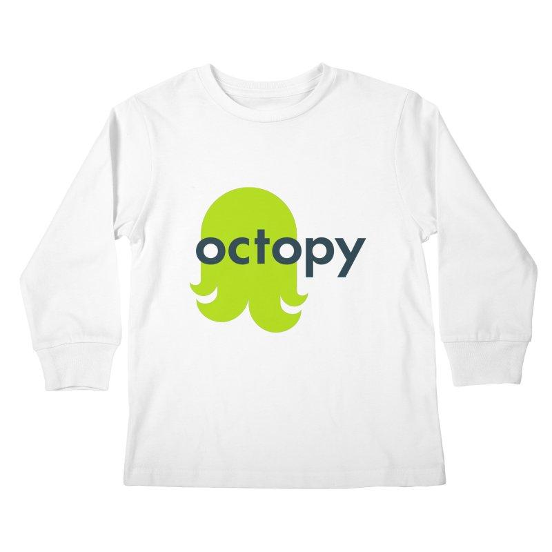 Green Oct-ulus Kids Longsleeve T-Shirt by octopy