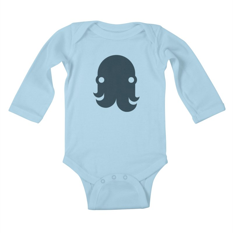 The Creature - Navy Kids Baby Longsleeve Bodysuit by octopy