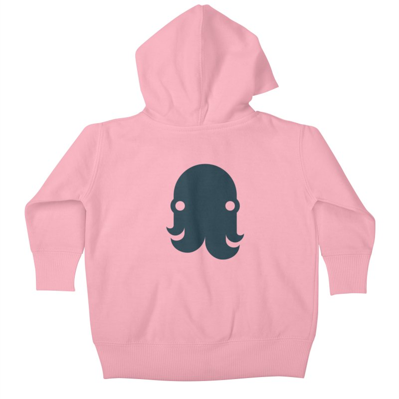The Creature - Navy Kids Baby Zip-Up Hoody by octopy