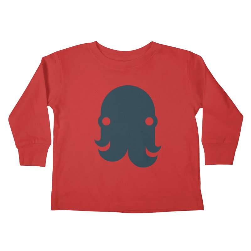 The Creature - Navy Kids Toddler Longsleeve T-Shirt by octopy