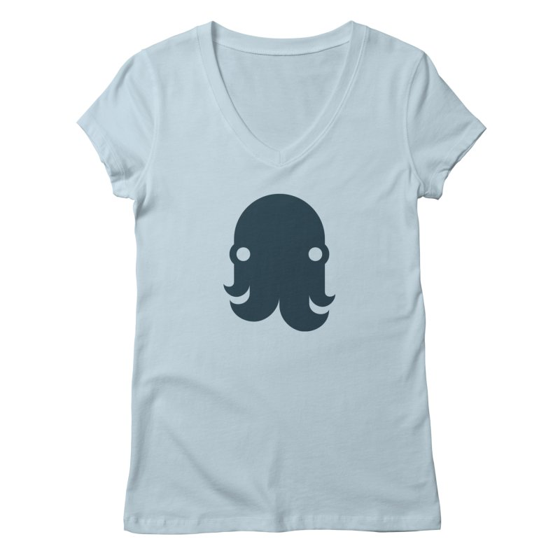 The Creature - Navy Women's V-Neck by octopy