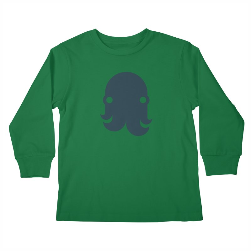 The Creature - Navy Kids Longsleeve T-Shirt by octopy