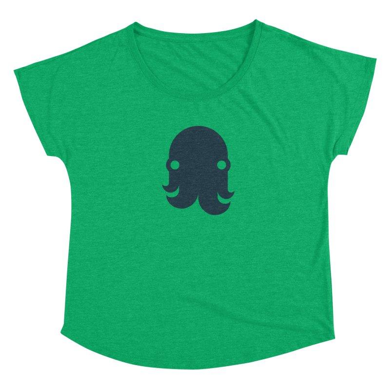 The Creature - Navy Women's Scoop Neck by octopy
