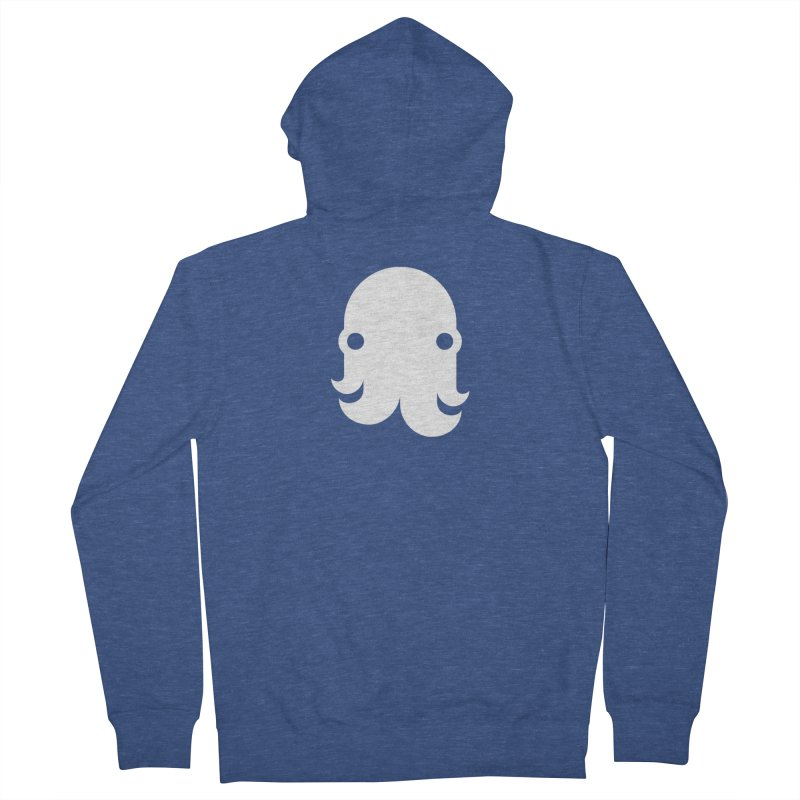 The Creature - White Women's Zip-Up Hoody by octopy