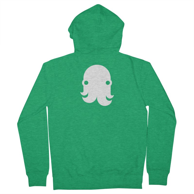 The Creature - White Men's Zip-Up Hoody by octopy