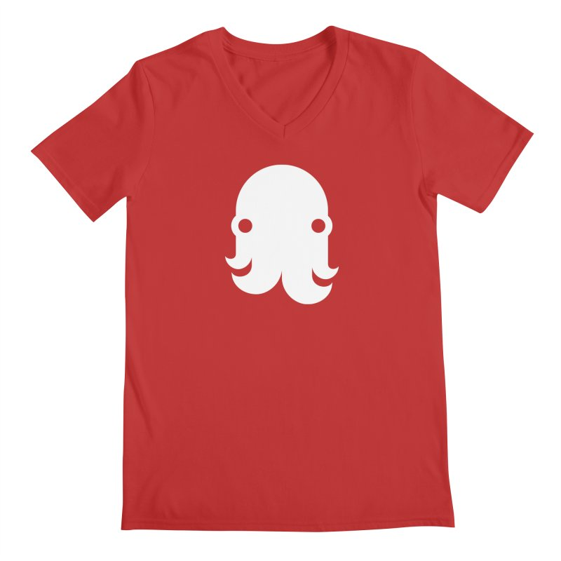 The Creature - White Men's V-Neck by octopy
