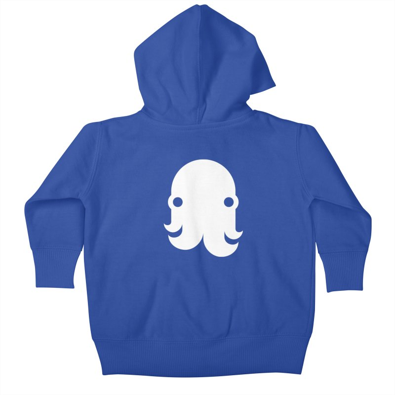The Creature - White Kids Baby Zip-Up Hoody by octopy