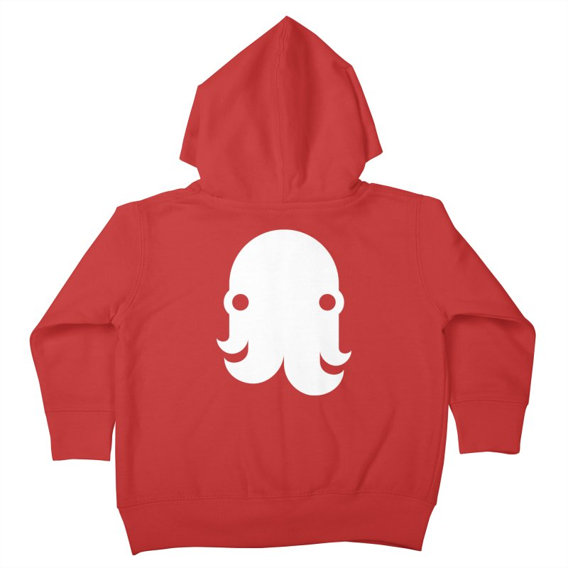 The Creature - White Kids Toddler Zip-Up Hoody by octopy