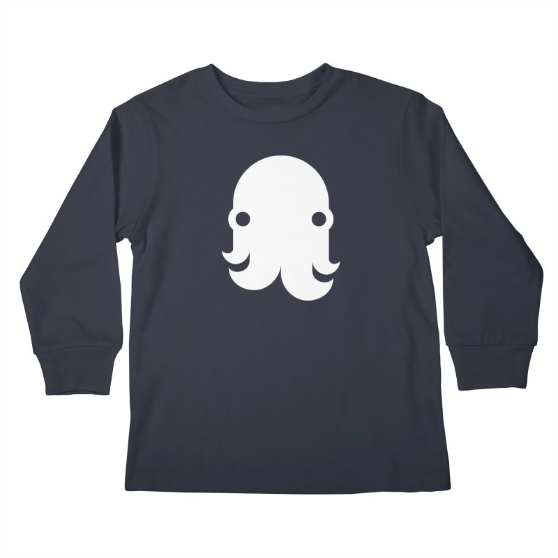 The Creature - White Kids Longsleeve T-Shirt by octopy