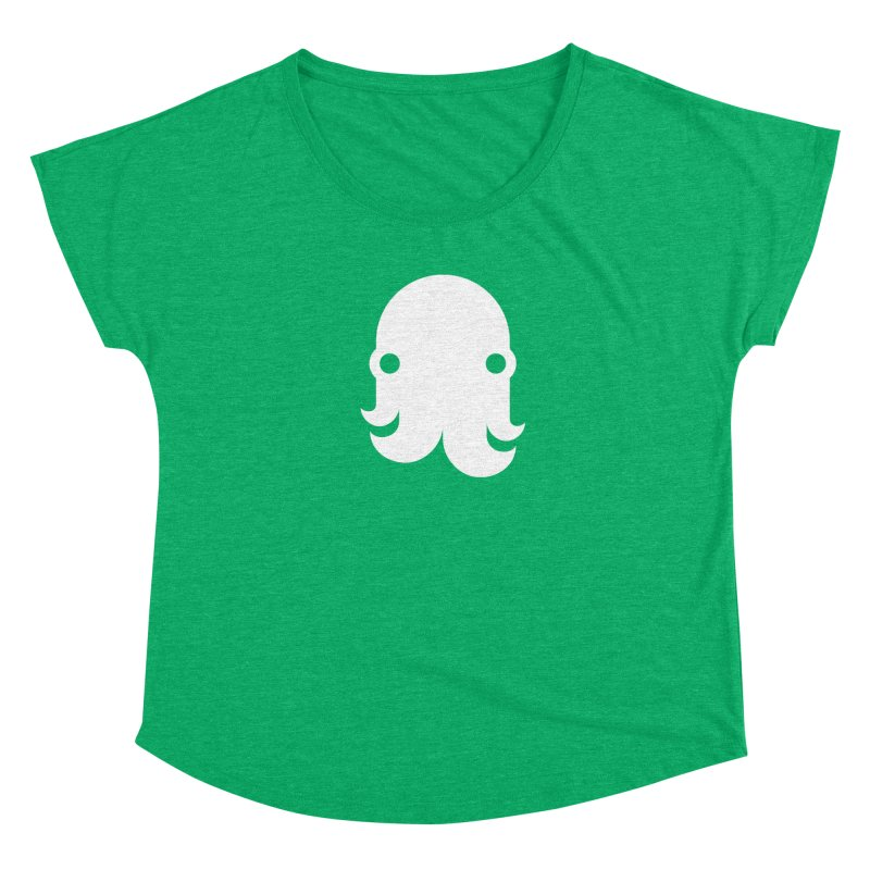 The Creature - White Women's Scoop Neck by octopy