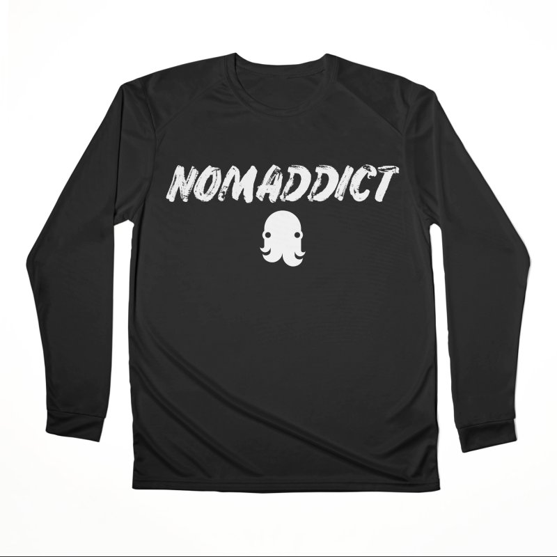 Nomaddict (White Text) Women's Longsleeve T-Shirt by octopy