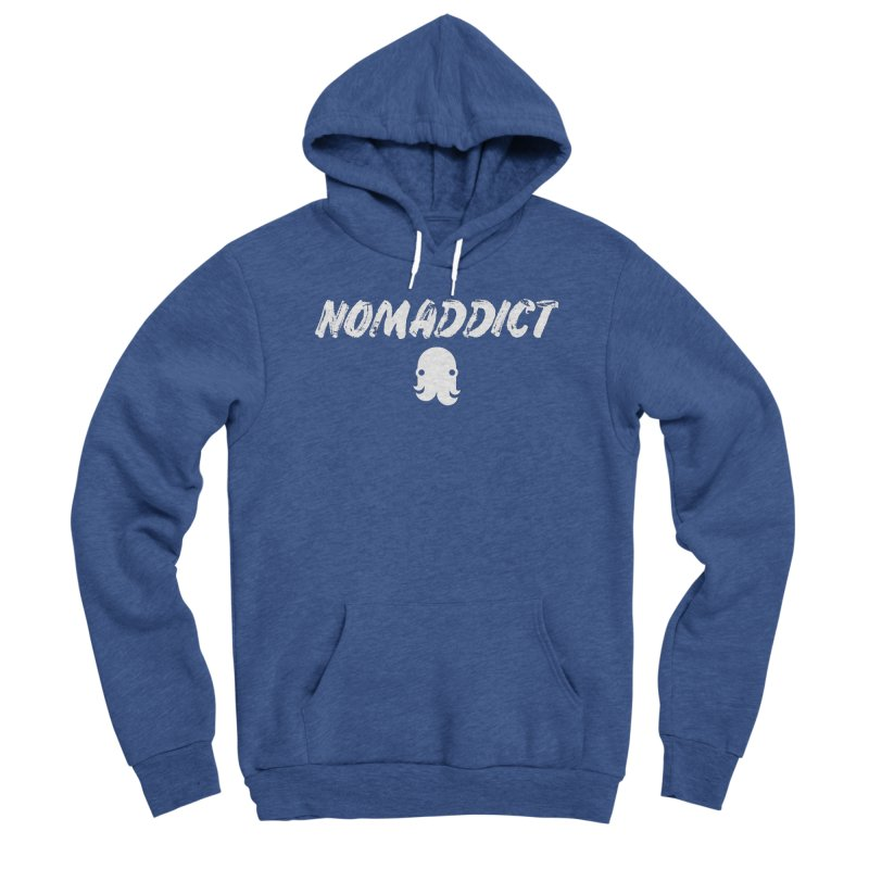 Nomaddict (White Text) Women's Pullover Hoody by octopy