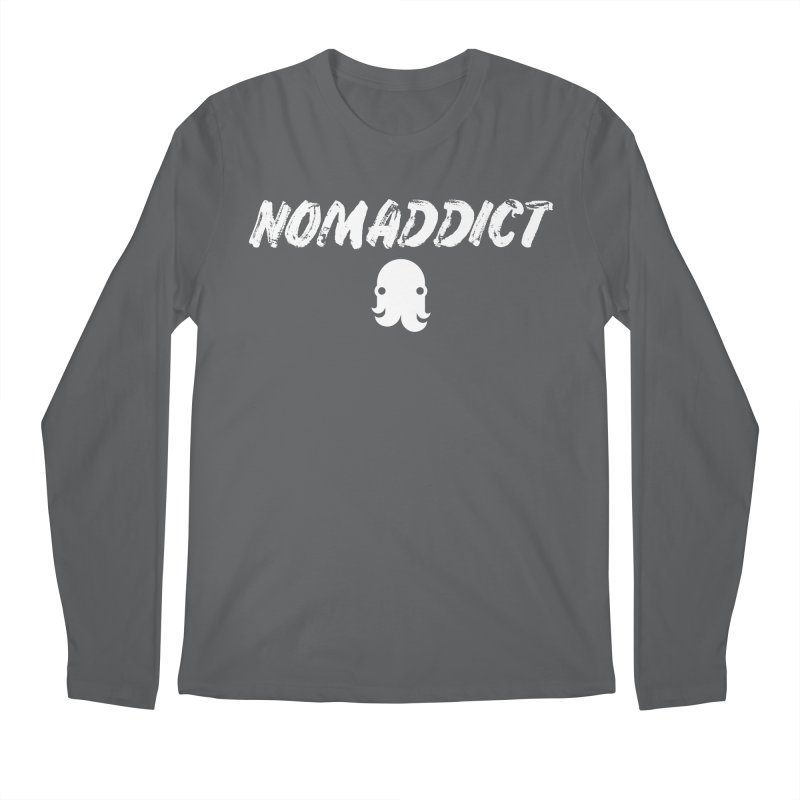 Nomaddict (White Text) Men's Longsleeve T-Shirt by octopy