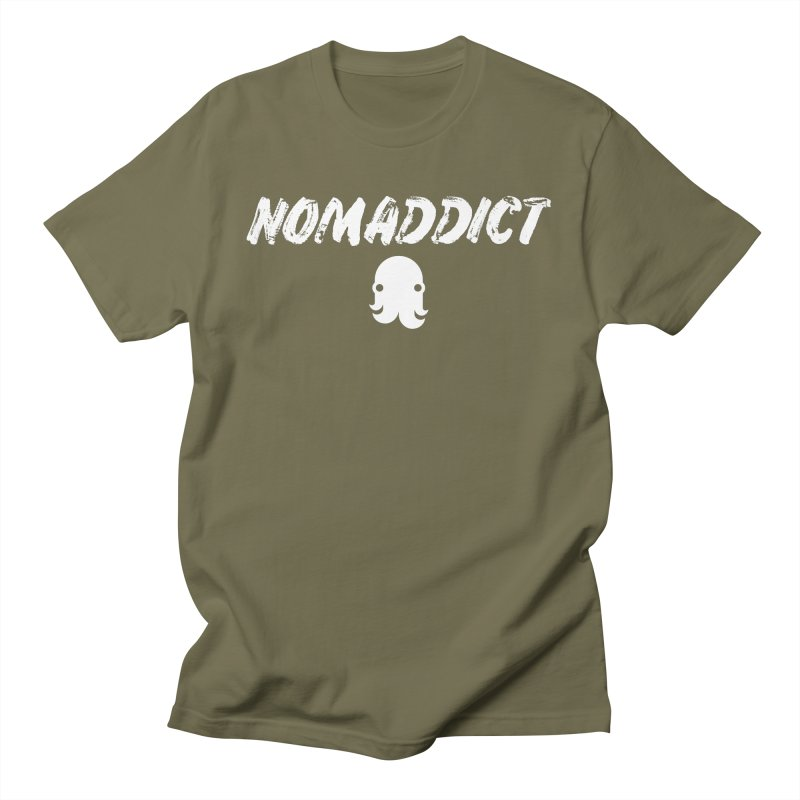 Nomaddict (White Text) Men's T-Shirt by octopy