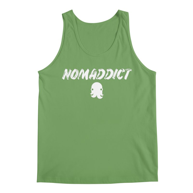 Nomaddict (White Text) Men's Tank by octopy