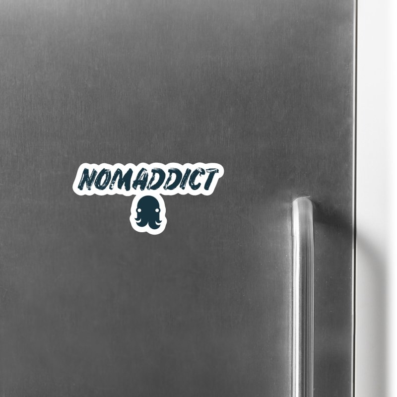 Nomaddict (Navy Text) Accessories Magnet by octopy
