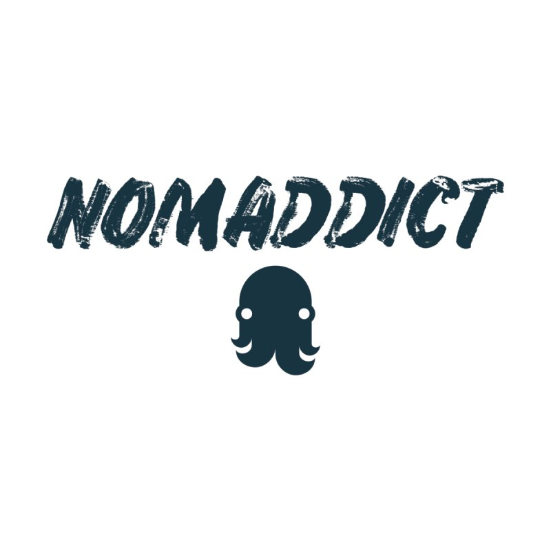 Nomaddict (Navy Text) Men's Tank by octopy