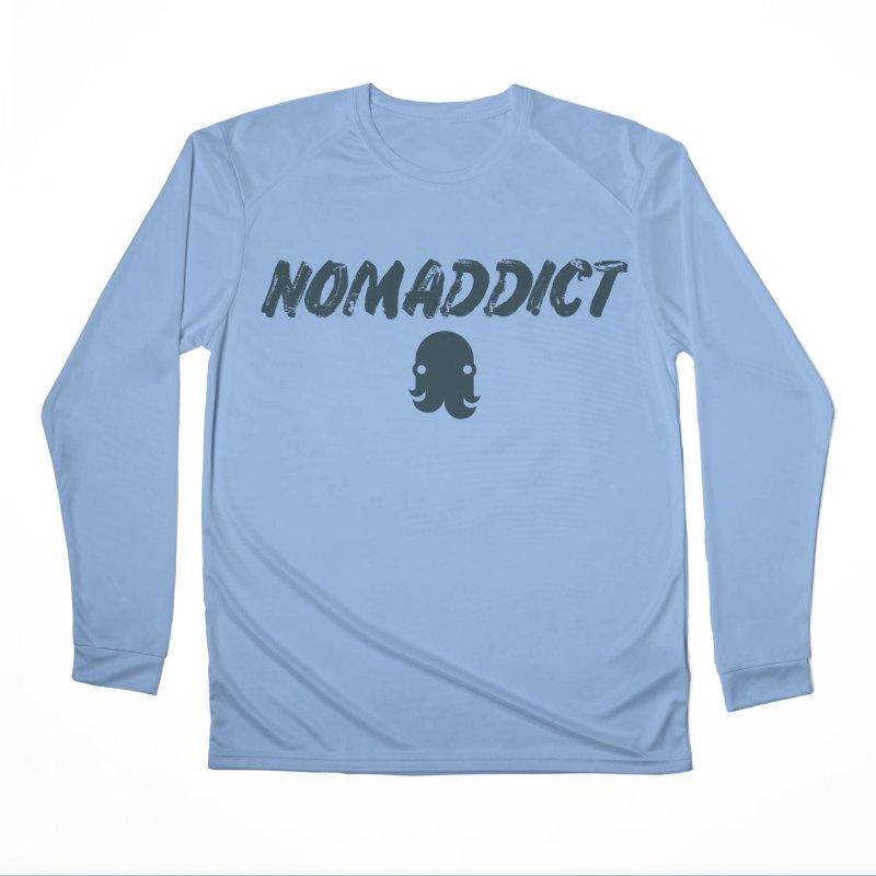 Nomaddict (Navy Text) Women's Longsleeve T-Shirt by octopy