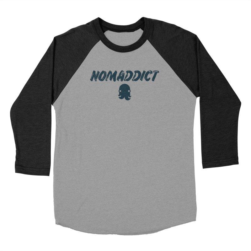 Nomaddict (Navy Text) Men's Longsleeve T-Shirt by octopy