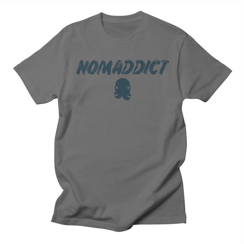 Nomaddict (Navy Text) Women's T-Shirt by octopy