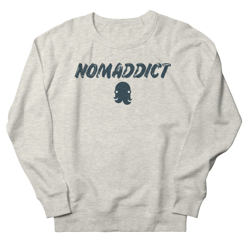 Nomaddict (Navy Text) Men's Sweatshirt by octopy