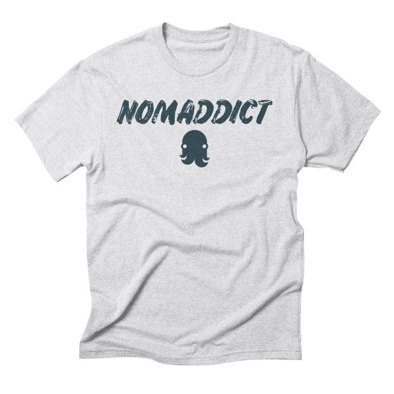 Nomaddict (Navy Text) Men's T-Shirt by octopy