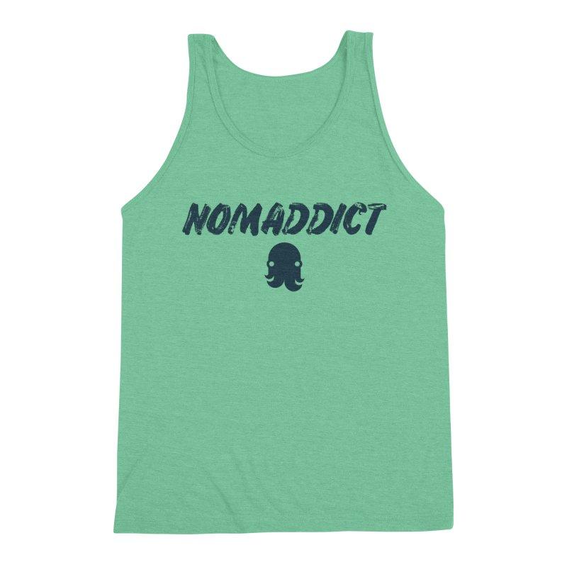 Nomaddict (Navy Text) Men's Tank by octopy