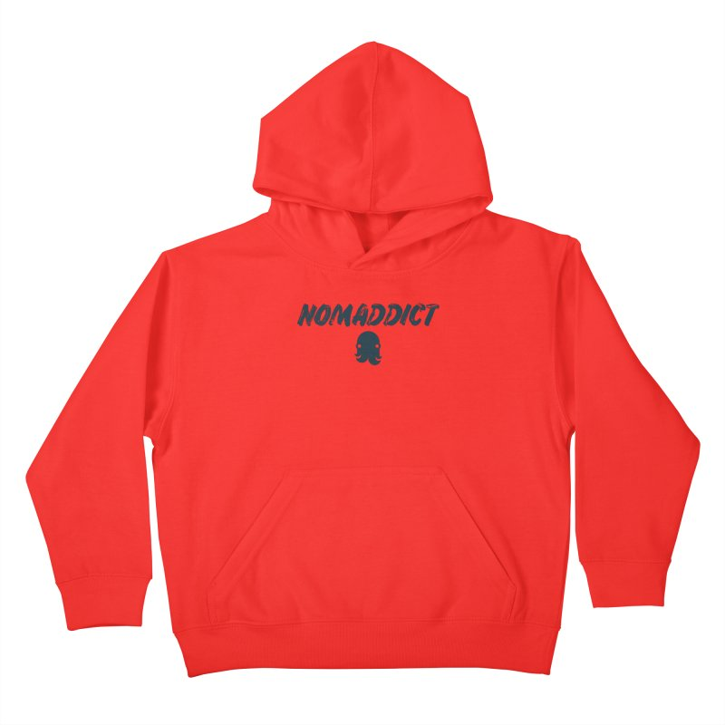 Nomaddict (Navy Text) Kids Pullover Hoody by octopy
