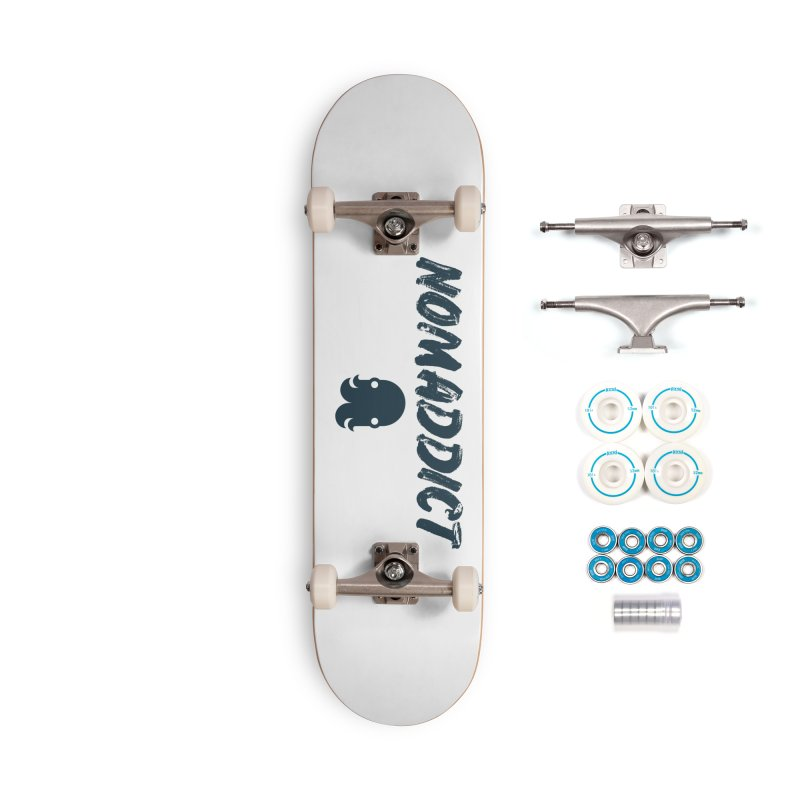 Nomaddict (Navy Text) Accessories Skateboard by octopy