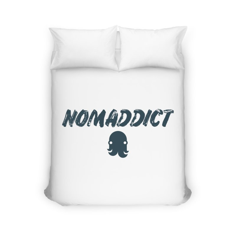 Nomaddict (Navy Text) Home Duvet by octopy