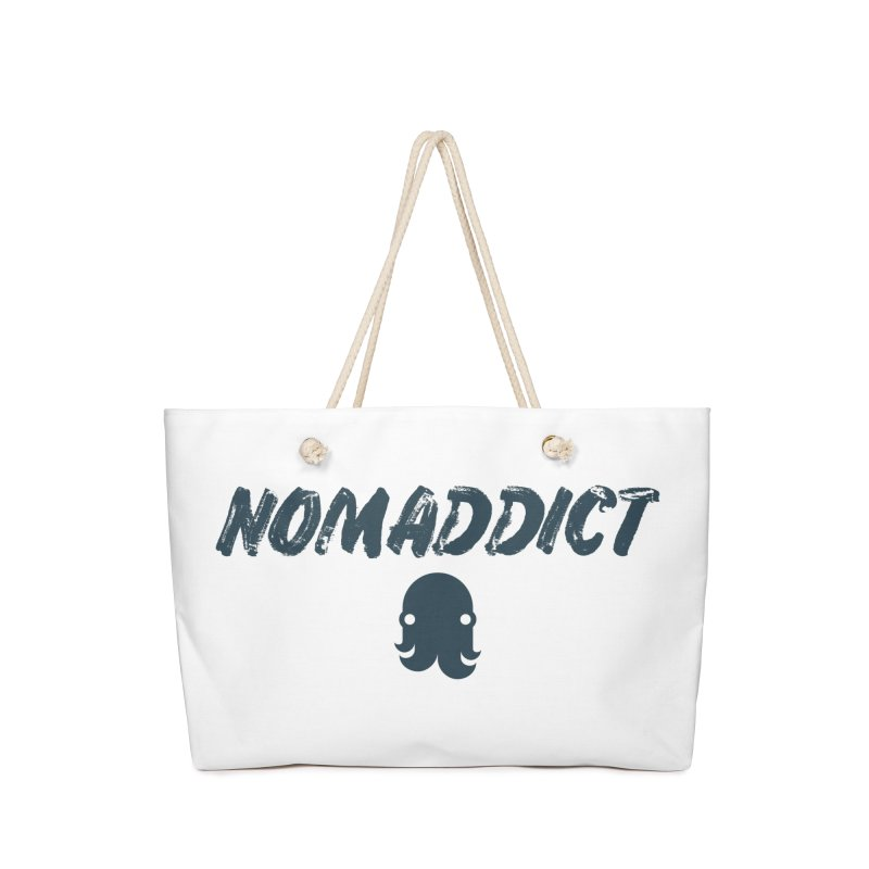 Nomaddict (Navy Text) Accessories Bag by octopy