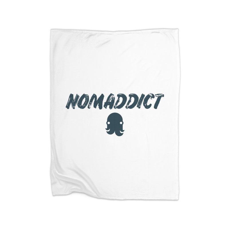 Nomaddict (Navy Text) Home Blanket by octopy