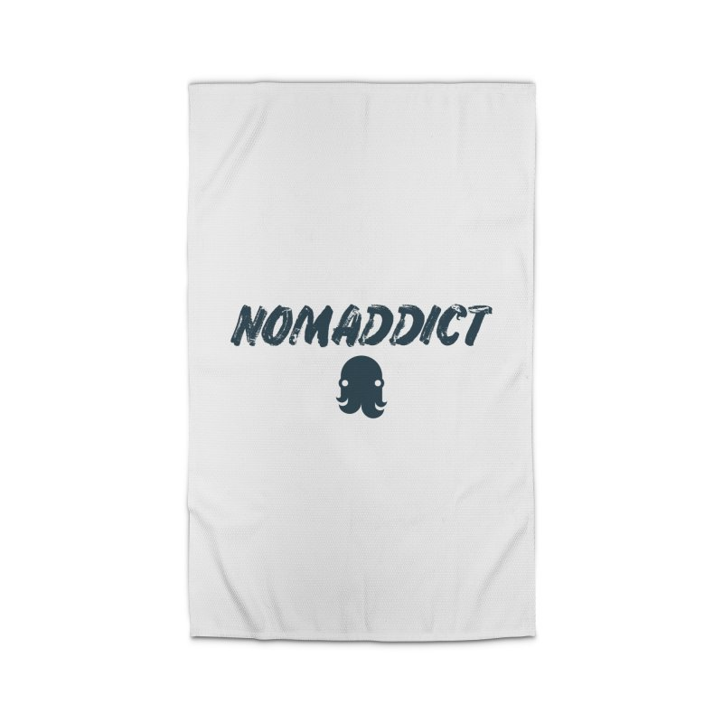 Nomaddict (Navy Text) Home Rug by octopy
