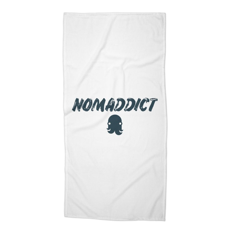 Nomaddict (Navy Text) Accessories Beach Towel by octopy