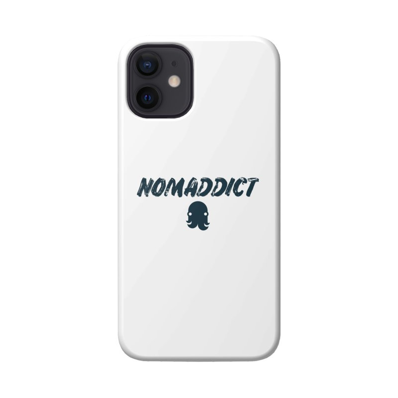 Nomaddict (Navy Text) Accessories Phone Case by octopy