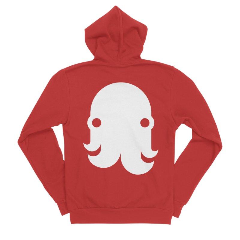 The Kraken! (White) Men's Zip-Up Hoody by octopy