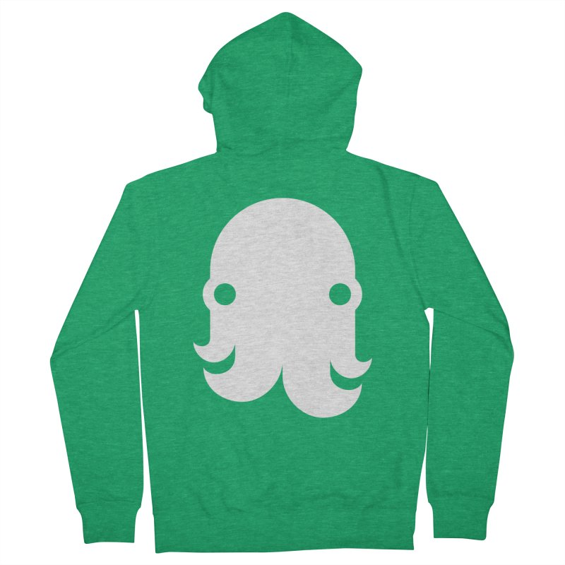 The Kraken! (White) Women's Zip-Up Hoody by octopy