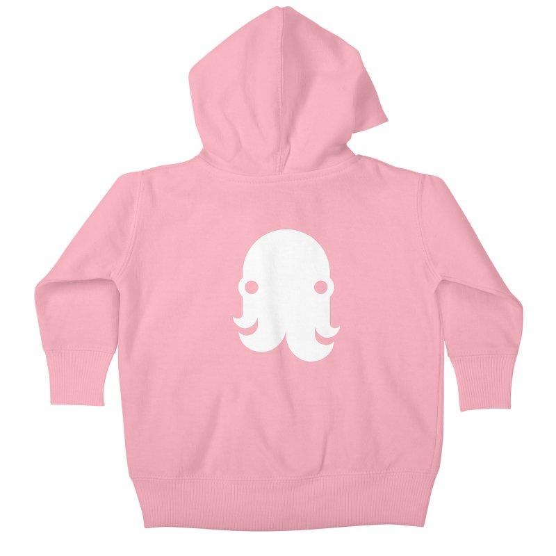 The Kraken! (White) Kids Baby Zip-Up Hoody by octopy