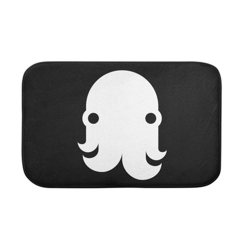 The Kraken! (White) Home Bath Mat by octopy