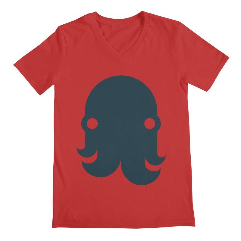 The Kraken! (Navy) Men's V-Neck by octopy
