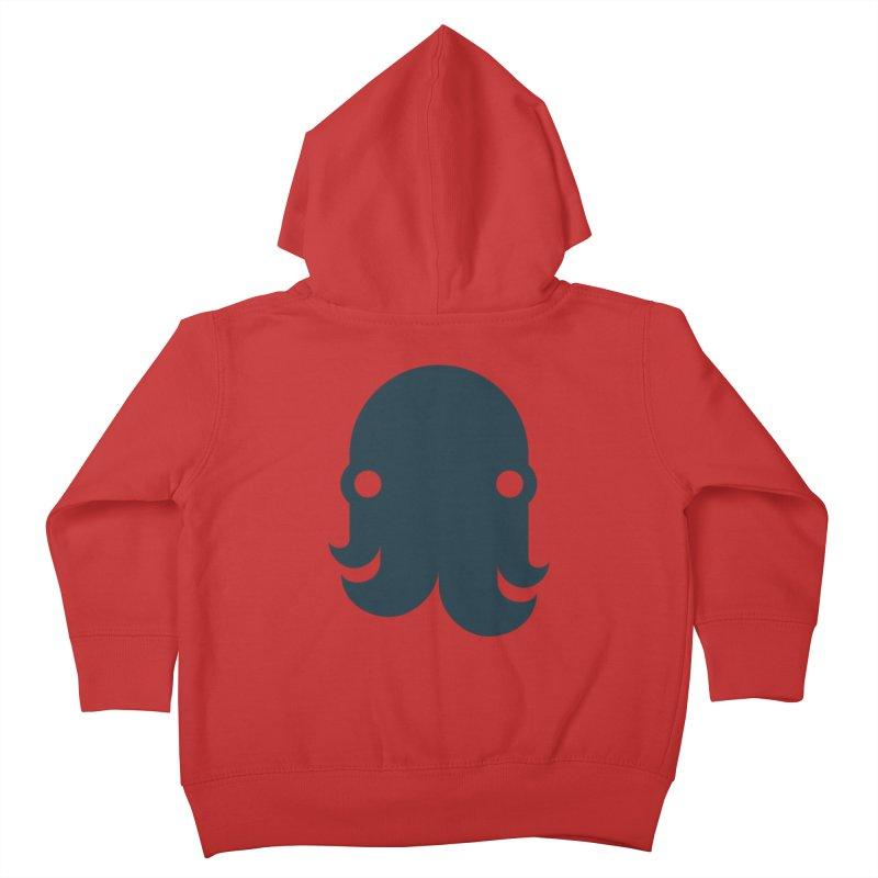 The Kraken! (Navy) Kids Toddler Zip-Up Hoody by octopy