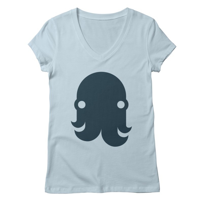 The Kraken! (Navy) Women's V-Neck by octopy