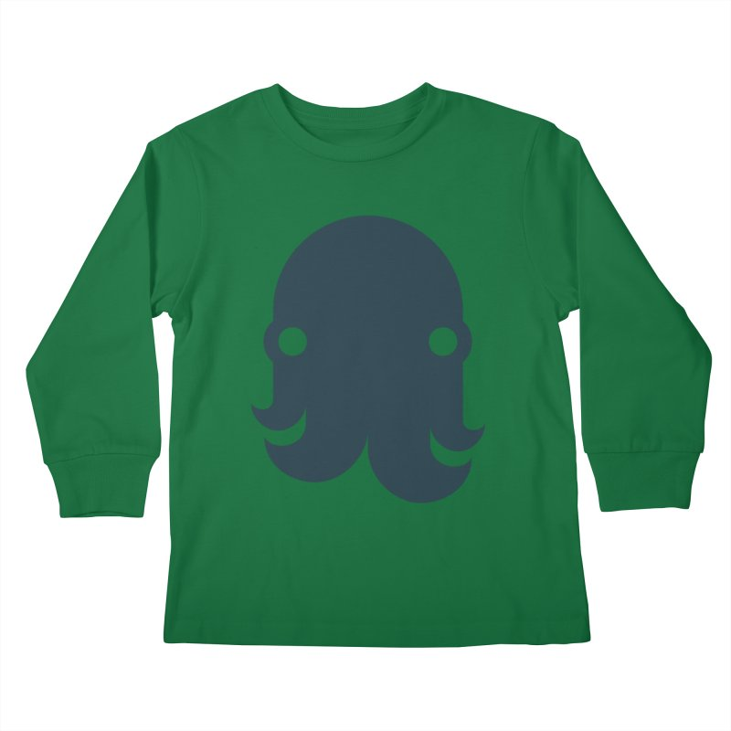 The Kraken! (Navy) Kids Longsleeve T-Shirt by octopy