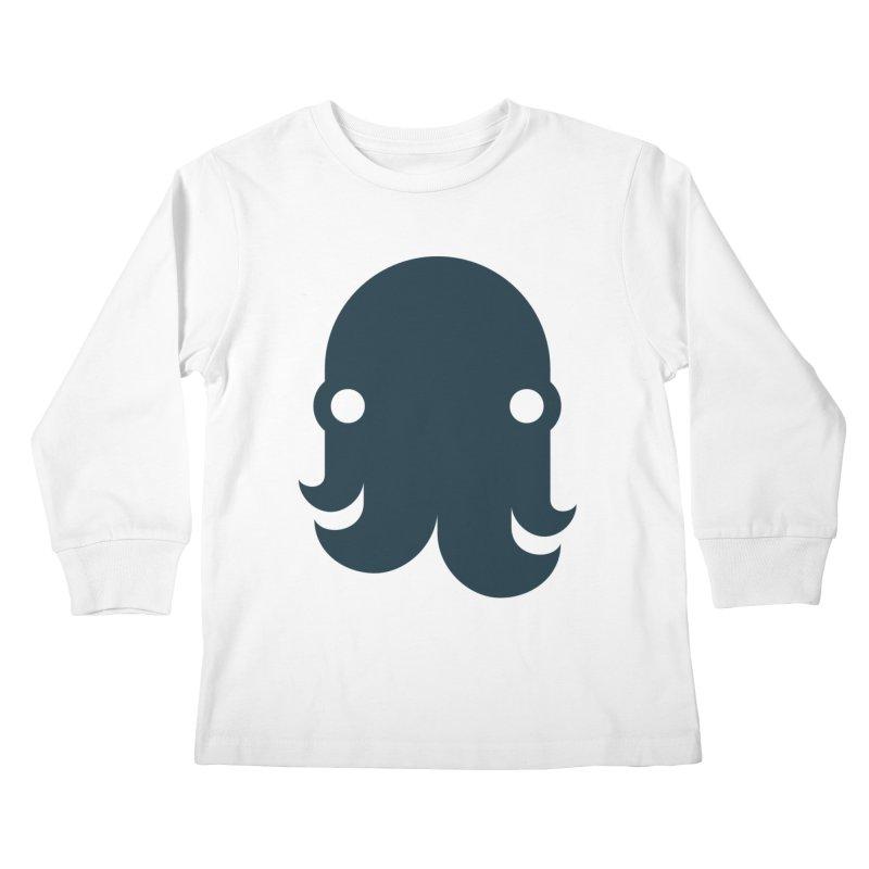 The Kraken! (Navy) Kids Longsleeve T-Shirt by octopy