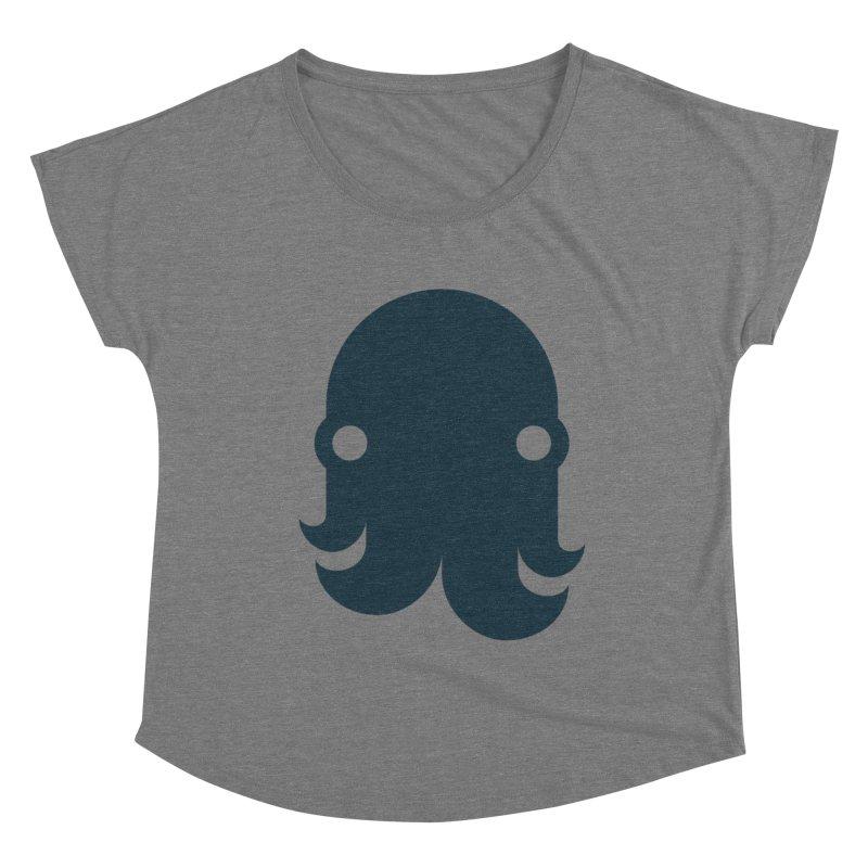 The Kraken! (Navy) Women's Scoop Neck by octopy
