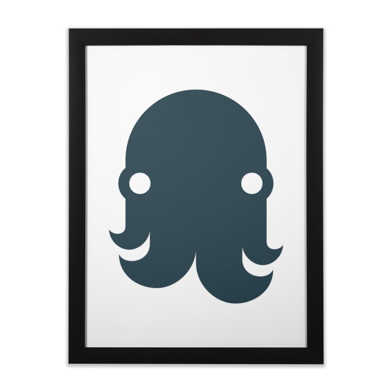 The Kraken! (Navy) Home Framed Fine Art Print by octopy