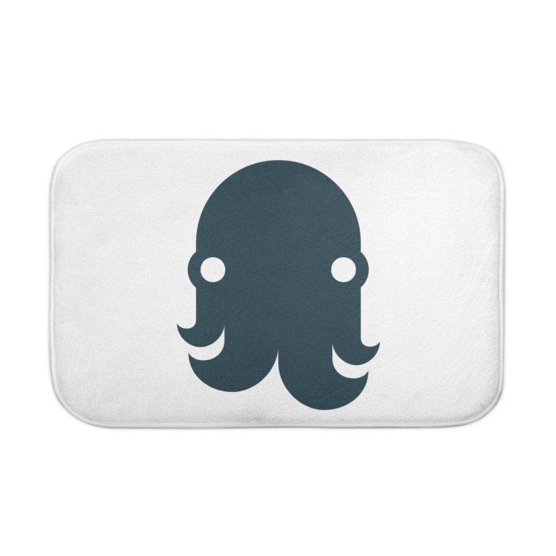The Kraken! (Navy) Home Bath Mat by octopy