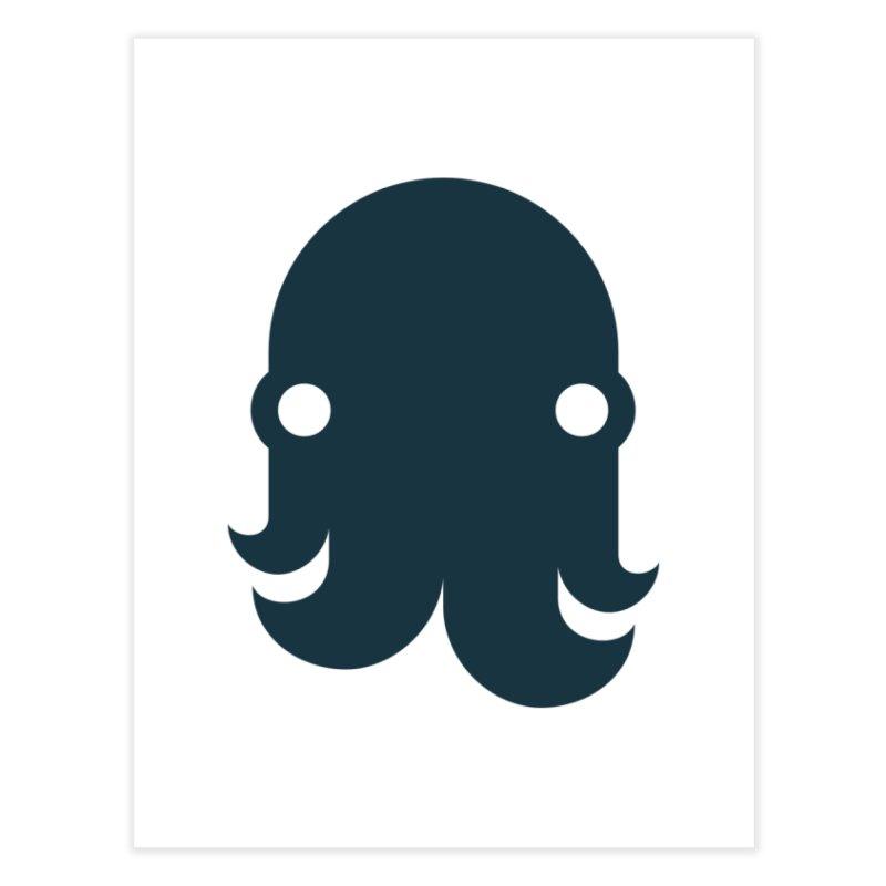 The Kraken! (Navy) Home Fine Art Print by octopy