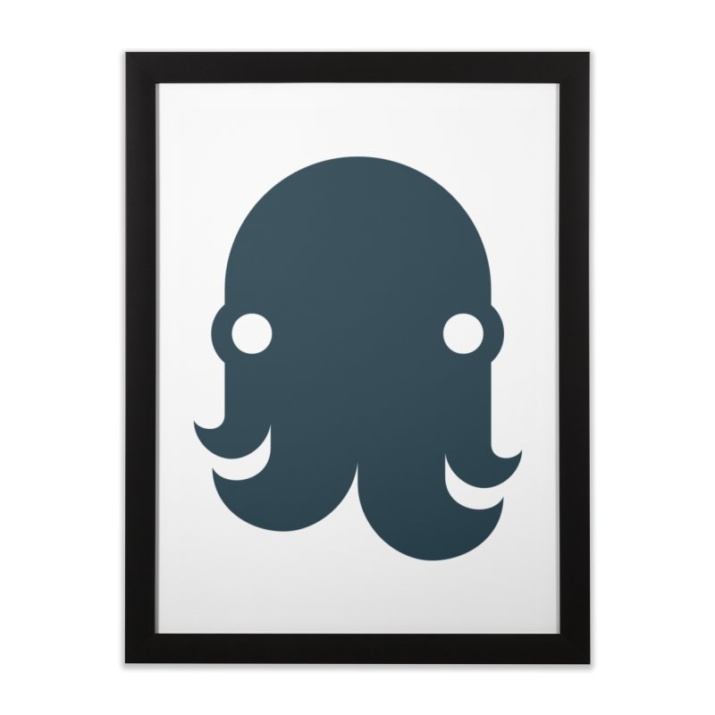 The Kraken! (Navy) Home Framed Fine Art Print by octopy